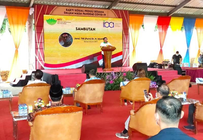 Danlantamal IV Tanjungpinang Hadiri Bhakti Sosial Peduli Covid-19 Masyarakat Bintan