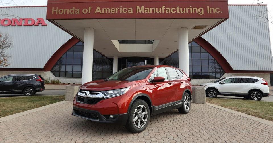 Honda begins production of the 2017 cr v in ohio plant for Honda east liberty ohio