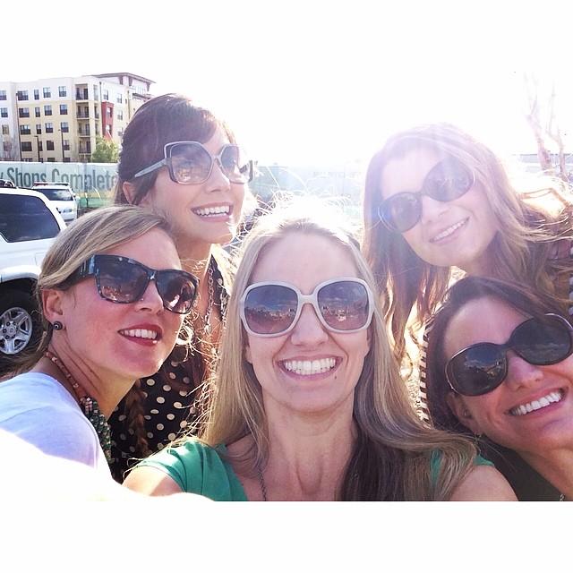 Five friends take a selfie