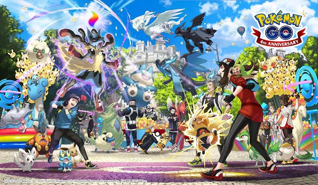 Pokémon GO (Mobile) recebe arte para aniversário de quatro anos e comercial para evento Fest 2020