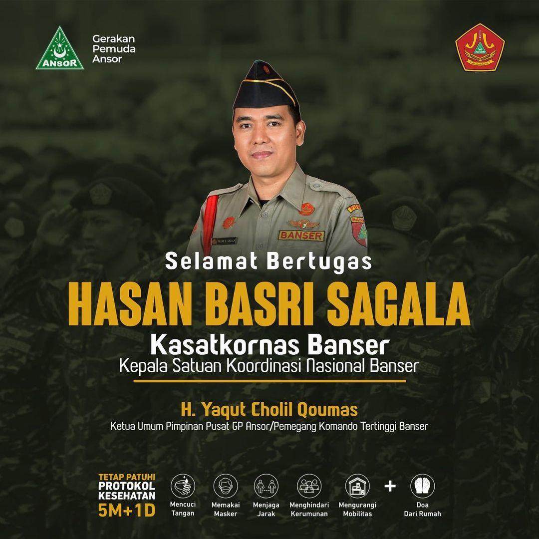 Profil Hasan Basri Sagala Kasatkornas Banser