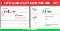Fix Data-vocabulary.org Schema Deprecated Error in Blogger