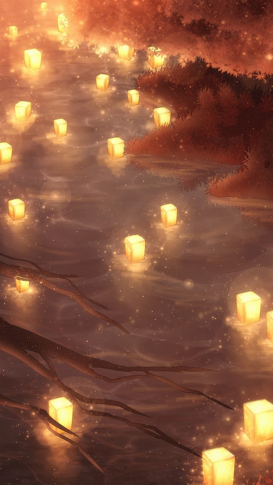 A river of light wallpaper