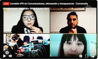 Colegio de Periodistas presenta propuestas en la Comisión de Comunicaciones de la Convención Constitucional