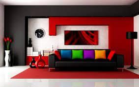 Kombinasi Warna Cat Rumah Merah, Putih dan Hitam