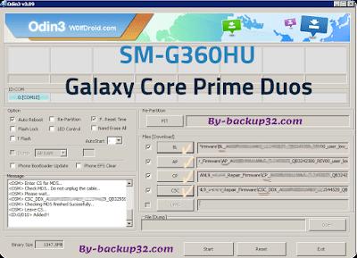 سوفت وير هاتف Galaxy Core Prime Duos موديل SM-G360HU روم الاصلاح 4 ملفات تحميل مباشر
