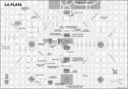 mapa de La Plata - Argentina