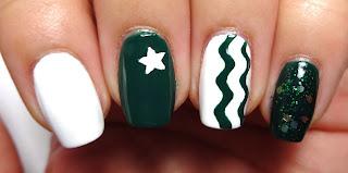 Green Glitter Nail
