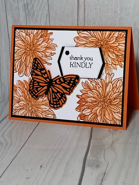 Butterfly Thank You Card using Stampin' Up! Delicate Dahlias Stamp Set