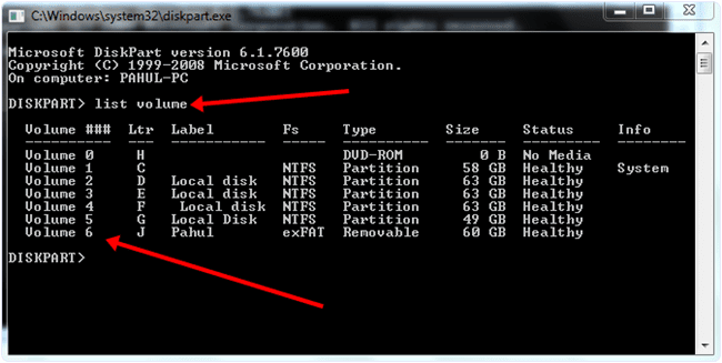 Remove Write Protection From USB Drive Using Command Prompt