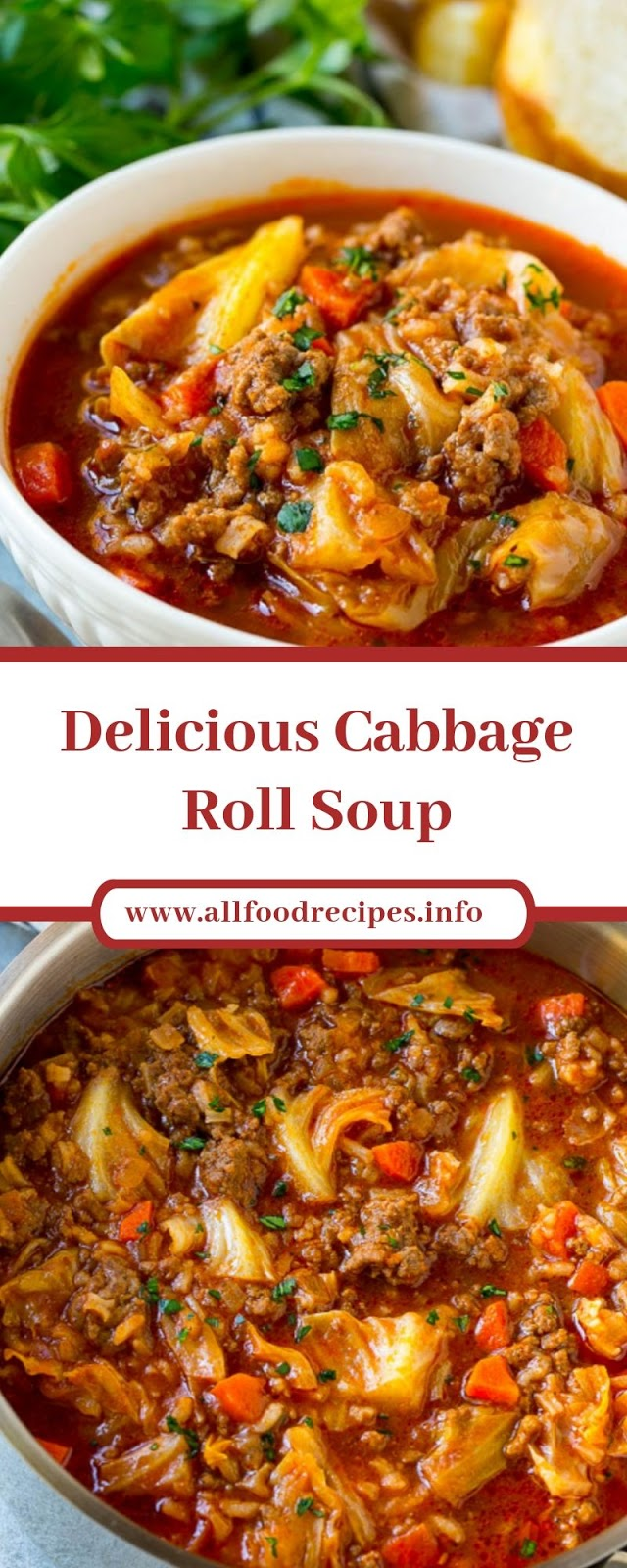 Delicious Cabbage Roll Soup