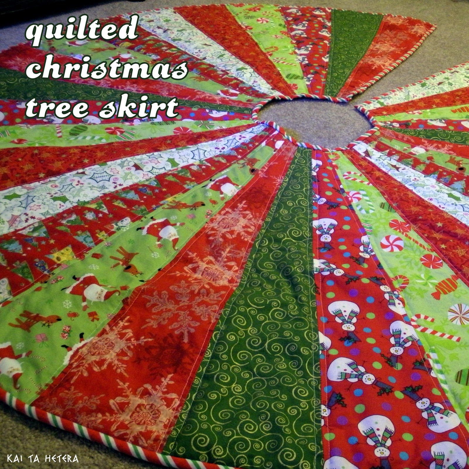 Quilted Christmas Tree Skirt Patterns: Kai Ta Hetera: Quilted Christmas Tree Skirt