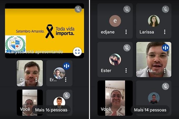 Escola Cidadã Integral de Amparo realizou palestra virtual em alusão ao Setembro Amarelo