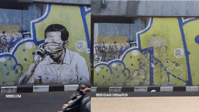 Usai Berhasil Dihapus, Kini Polisi Fokus 'Buru' Pembuat Mural Pria Mirip Jokowi di Bandung