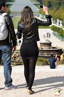 Mujeres europeas hermosas ropa ajustada