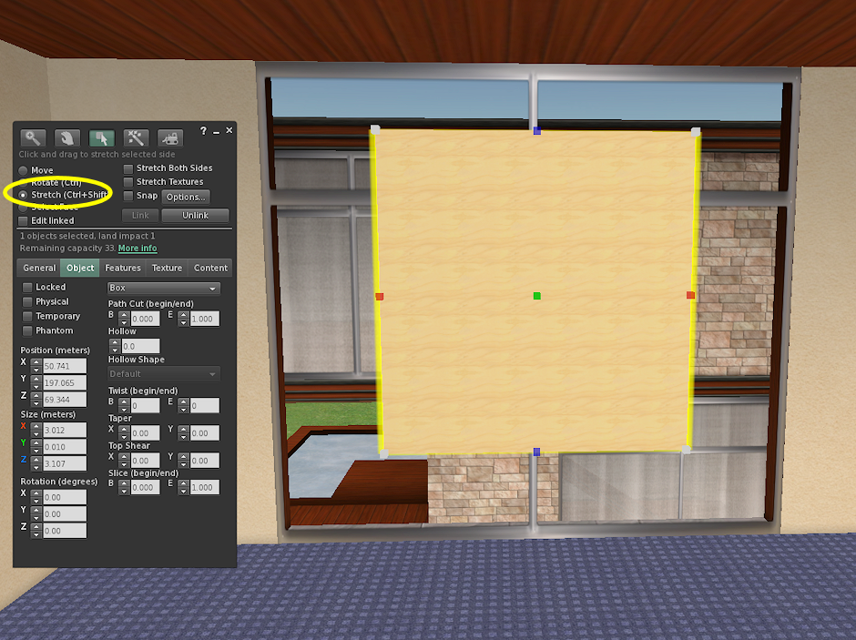 Leaf Illusion: How to Make a One-Way Glass Window in Second Life®