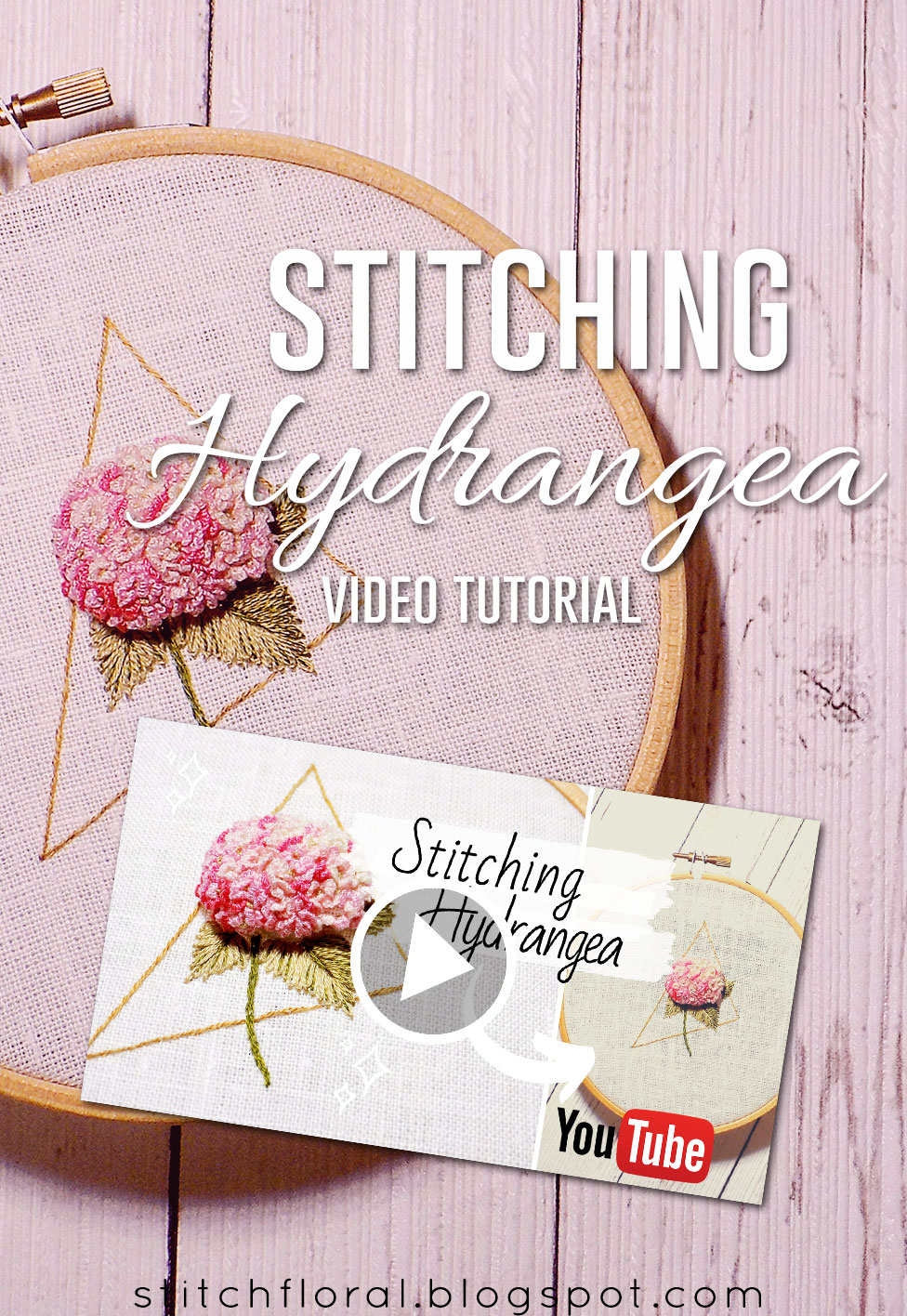 Stitching Hydrangea Dimensional Embroidery Tutorial Stitch Floral