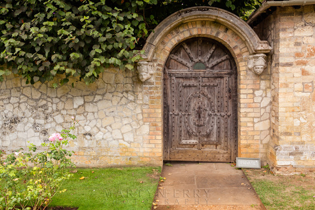 Door made for Henry Cromwell at Anglesey Abbey in Cambridgeshire