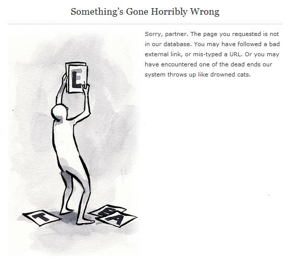 something gone horribly wrong