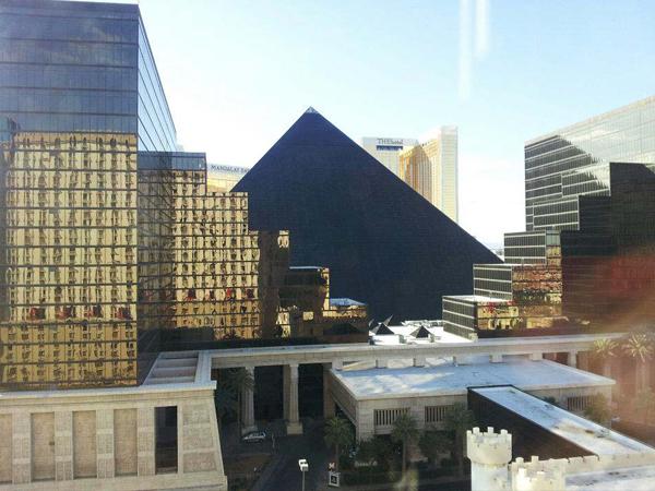 Excalibur hotel room view