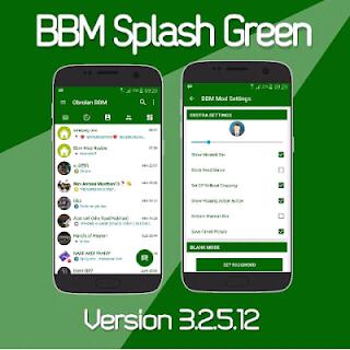 BBM Mod Splash Green Unclone v3.2.5.12 Terbaru by Ian Cweper