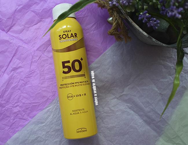 Protección solar spf50 de Mercadona