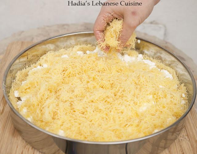 nabulsi knafeh before baking