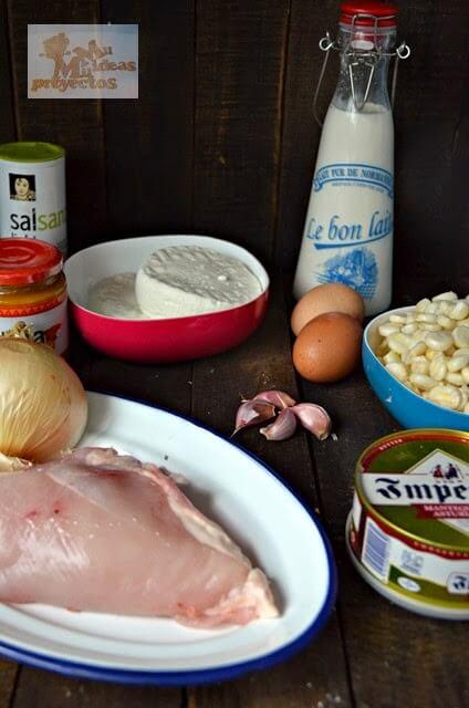 ingredientes para el pastel choclo