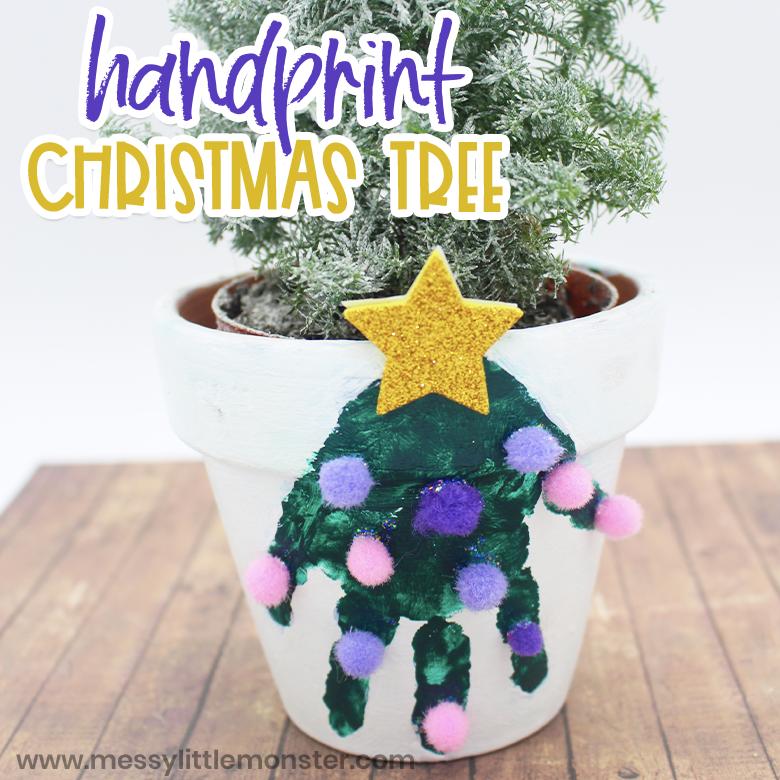 Christmas tree clay pot craft