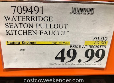 Deal for the WaterRidge Seaton Pull-out Kitchen Faucet at Costco