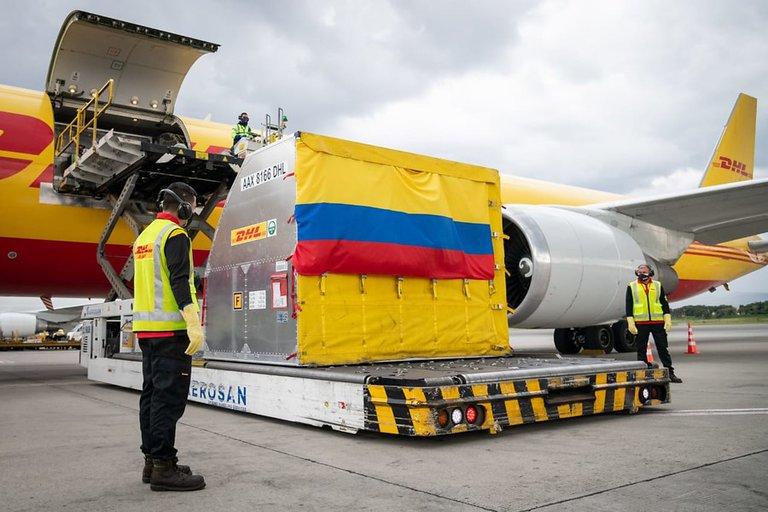 hoyennoticia.com, Primeras 50 mil vacunas Covid llegaron a Colombia