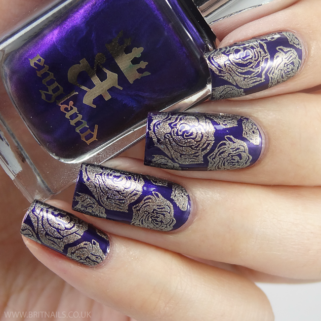 Piggieluv Freehand Stairway To Heaven Nail Art: A-England The Blessed Damozel - Swatch And Nail Art