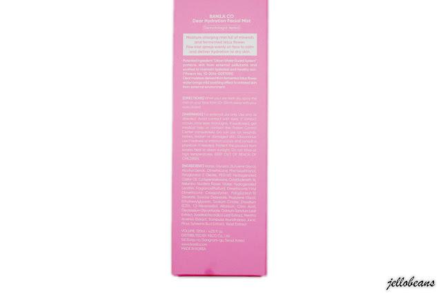 Banila Co. Dear Hydration Facial Mist