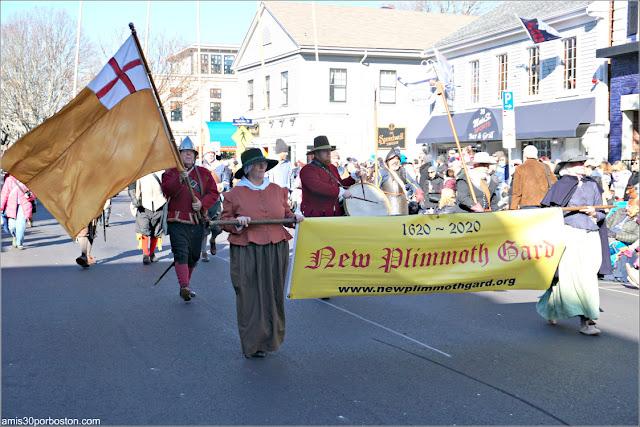 New Plimmoth Guard en el Desfile de Acción de Gracias de Plymouth