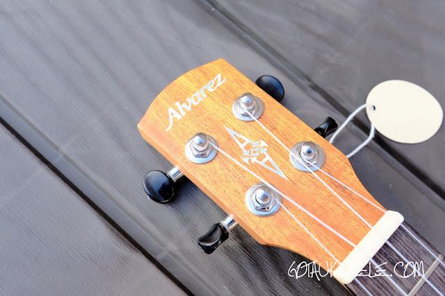 Alvarez RU22SCE Soprano Ukulele headstock