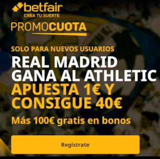 betfair promocuota Real Madrid gana Athletic 15 diciembre 2020