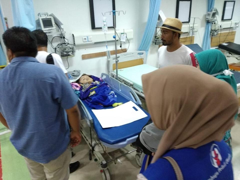 Agustina Penderita Hidrosifalus dari Keluarga Mualaf di perdalaman Aceh Timur , Kembali dirujuk kerumah Sakit Untuk Menjalani Operasi