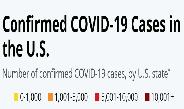 Confirmed COVID-19 Cases in the U.S. #infographic