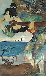 Perempuan Menjual Ayam karya lukisan Hendra Gunawan