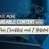 Cara Membuat Konten Blog Yang Shareable dan Viral Dengan Checklist Dan 7 Tools Bermanfaat Ini