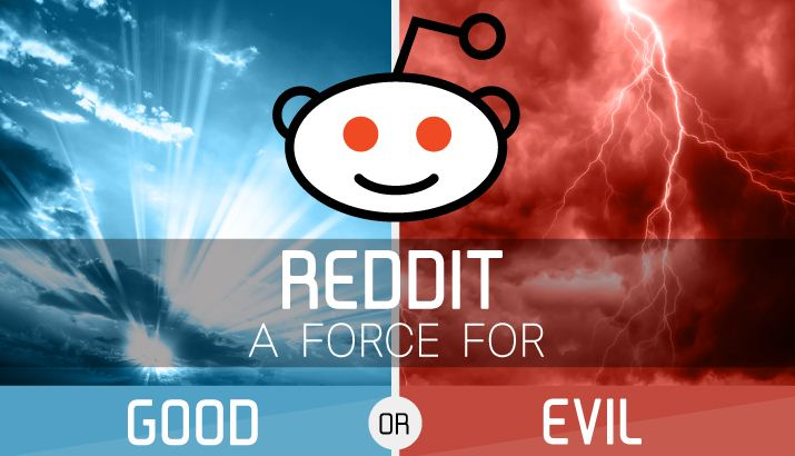 Reddit a Force for Good or Evil - infographic