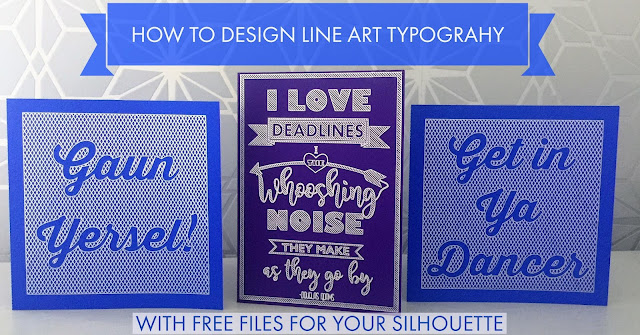 Line Art Tutorial with free files for sketch pens with Silhouette Cameo by Nadine Muir for Silhouette UK blog