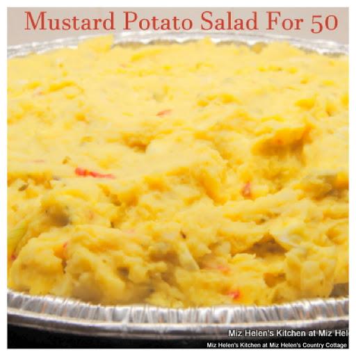 Mustard Potato Salad For 50