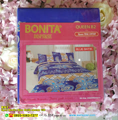Sprei Bonita Blue Batik Ukuran 160