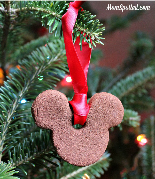 not only do they look pretty on the tree but they smell just like christmas you can make them any shape you want but these cute mickey ones are perfect - Homemade Mickey Mouse Christmas Decorations