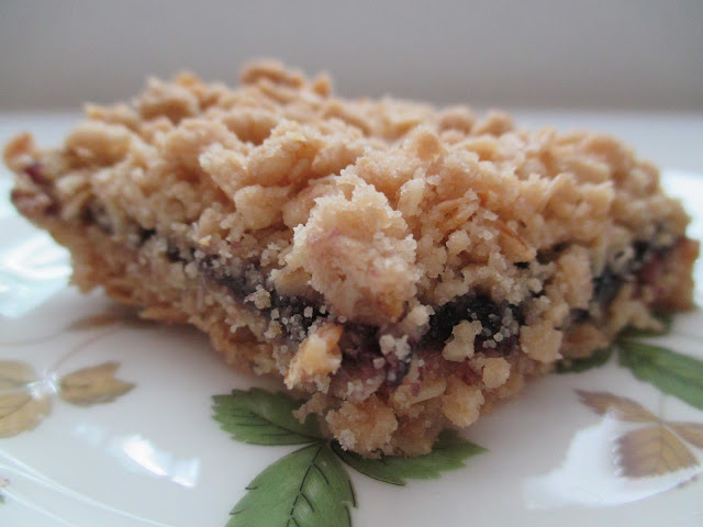 Oatmeal Cookie Bar Layered with Jam