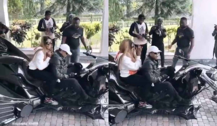 Tacha And Donald Duke Rides On The Same Bike In Calabar 1