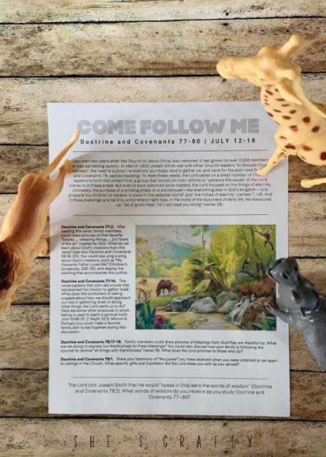 Come Follow Me free printable July 12
