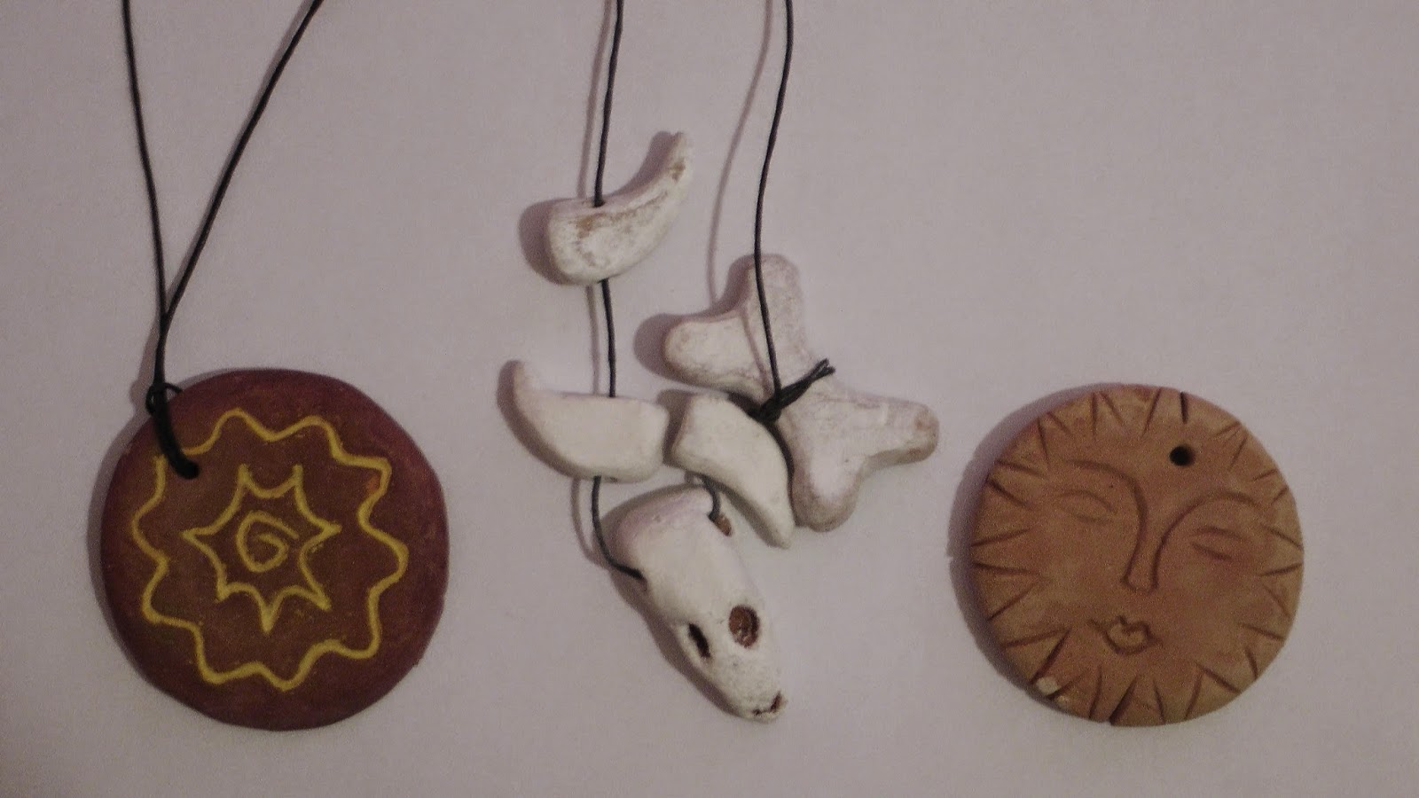 Jewellery made of clay