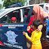 Ratusan Anak TK Sangat Senang Diajak Berkeliling Dengan Mobil Patwal Polantas